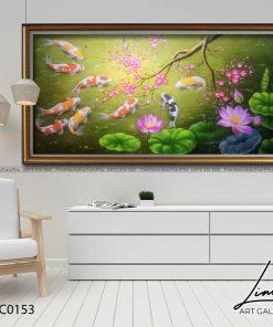 tranh ca chep hoa hoa dao 2 247x296 - Tranh Cá Chép Hoa Đào - LCC0153