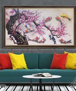 tranh ca chep hoa hoa dao 3 247x296 - Tranh Cá Chép Hoa Đào - LCC0164