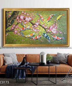 tranh ca chep hoa hoa dao 4 247x296 - Tranh Cá Chép Hoa Đào - LCC0173