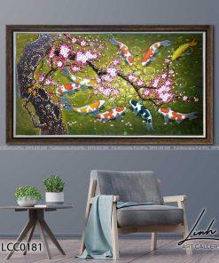 tranh ca chep hoa hoa dao 5 247x296 - Tranh Cá Chép Hoa Đào - LCC0181