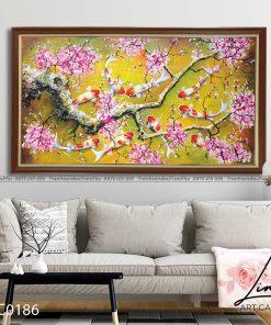 tranh ca chep hoa hoa dao 7 247x296 - Tranh Cá Chép Hoa Đào - LCC0186