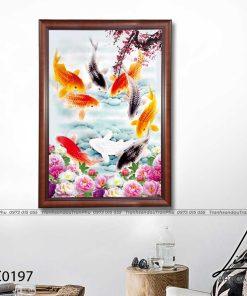 tranh ca chep hoa hoa dao 8 247x296 - Tranh Cá Chép Hoa Đào - LCC0197