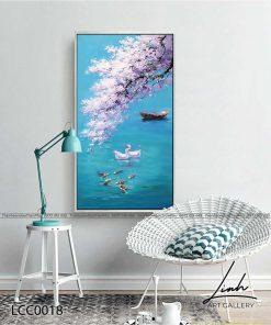 tranh ca chep hoa mai 2 1 247x296 - Tranh Cá Chép Hoa Mai - LCC0018