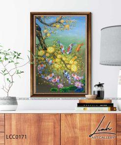 tranh ca chep hoa mai 3 247x296 - Tranh Cá Chép Hoa Mai - LCC0171