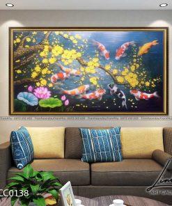 tranh ca chep hoa mai 4 247x296 - Tranh Cá Chép Hoa Mai - LCC0138
