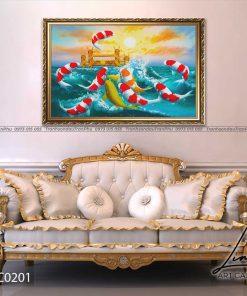 tranh ca chep hoa rong 3 247x296 - Tranh Cá Chép Hoá Rồng - LCC0201