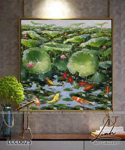 tranh ca chep hoa sen10 247x296 - Tranh Cá Chép Hoa Sen - LCC0025
