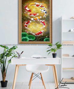 tranh ca chep hoa sen109 247x296 - Tranh Cá Chép Hoa Sen - LCC0195