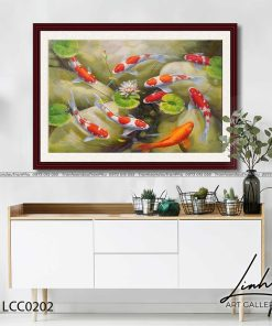 tranh ca chep hoa sen114 247x296 - Tranh Cá Chép Hoa Sen - LCC0202