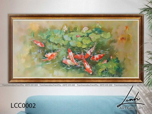 tranh ca chep hoa sen119 510x383 - Tranh Cá Chép Hoa Sen - LCC0002