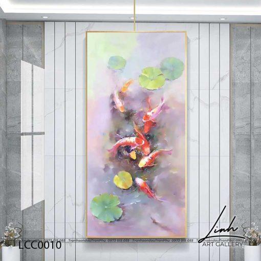 tranh ca chep hoa sen120 510x510 - Tranh Cá Chép Hoa Sen - LCC0010