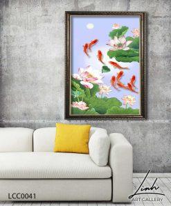 tranh ca chep hoa sen19 247x296 - Tranh Cá Chép Hoa Sen - LCC0041