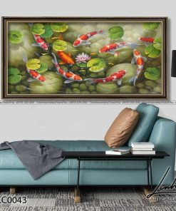 tranh ca chep hoa sen20 247x296 - Tranh Cá Chép Hoa Sen - LCC0043