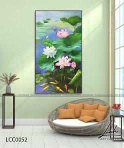 tranh ca chep hoa sen25 247x296 - Tranh Cá Chép Hoa Sen - LCC0052