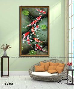 tranh ca chep hoa sen26 247x296 - Tranh Cá Chép Hoa Sen - LCC0053