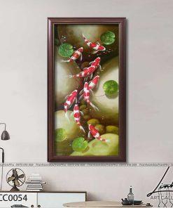 tranh ca chep hoa sen27 247x296 - Tranh Cá Chép Hoa Sen - LCC0054