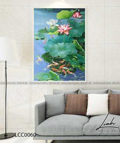 tranh ca chep hoa sen30 247x296 - Tranh Cá Chép Hoa Sen - LCC0060