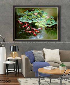 tranh ca chep hoa sen32 247x296 - Tranh Cá Chép Hoa Sen - LCC0063