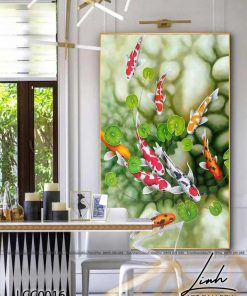 tranh ca chep hoa sen4 247x296 - Tranh Cá Chép Hoa Sen - LCC0016