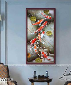 tranh ca chep hoa sen7 247x296 - Tranh Cá Chép Hoa Sen - LCC0021