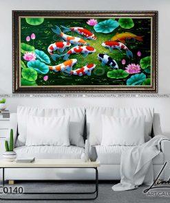 tranh ca chep hoa sen74 247x296 - Tranh Cá Chép Hoa Sen - LCC0140