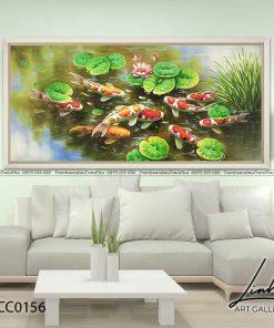 tranh ca chep hoa sen88 247x296 - Tranh Cá Chép Hoa Sen - LCC0156