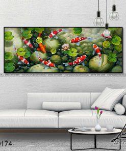 tranh ca chep hoa sen96 247x296 - Tranh Cá Chép Hoa Sen - LCC0174