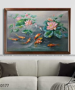tranh ca chep hoa sen99 247x296 - Tranh Cá Chép Hoa Sen - LCC0177