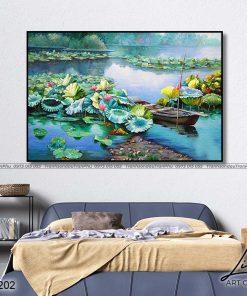 tranh ho sen 13 247x296 - Tranh Hồ Sen - OHO0202