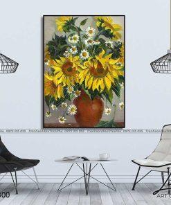 tranh hoa huong duong 3 247x296 - Tranh Hoa Hướng Dương - OHO0300