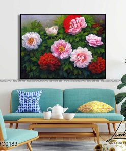 tranh hoa mau don 20 247x296 - Tranh Hoa Mẫu Đơn - OHO0183