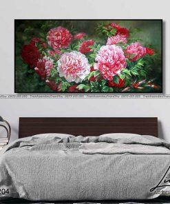 tranh hoa mau don 24 247x296 - Tranh Hoa Mẫu Đơn - OHO0204