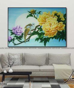 tranh hoa mau don 34 247x296 - Tranh Hoa Mẫu Đơn - OHO0289