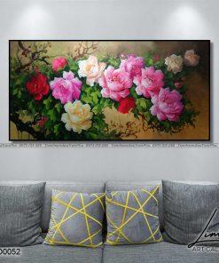 tranh hoa mau don 6 247x296 - Tranh Hoa Mẫu Đơn - OHO0052