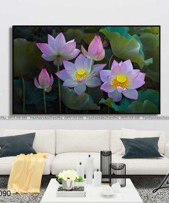 tranh hoa sen 14 247x296 - Tranh Hoa Sen - OHO0090