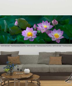 tranh hoa sen 17 247x296 - Tranh Hoa Sen - OHO0105