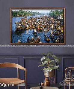 tranh lang que 110 247x296 - Tranh Làng Quê - LDQ0110