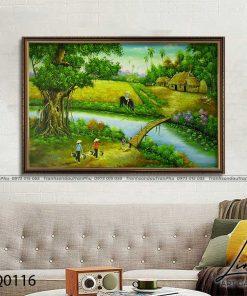 tranh lang que 116 247x296 - Tranh Làng Quê - LDQ0116