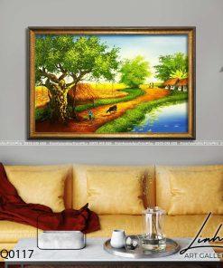tranh lang que 117 247x296 - Tranh Làng Quê - LDQ0117