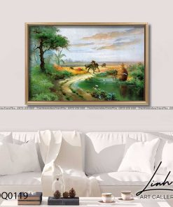 tranh lang que 119 247x296 - Tranh Làng Quê - LDQ0119