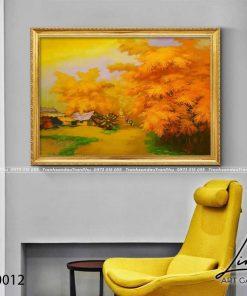 tranh lang que 12 247x296 - Tranh Làng Quê - LDQ0012