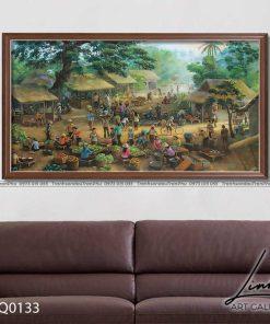 tranh lang que 133 247x296 - Tranh Làng Quê - LDQ0133