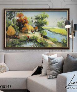 tranh lang que 143 247x296 - Tranh Làng Quê - LDQ0143