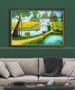 tranh lang que 149 247x296 - Tranh Làng Quê - LDQ0149