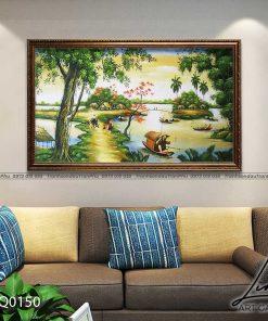 tranh lang que 150 247x296 - Tranh Làng Quê - LDQ0150