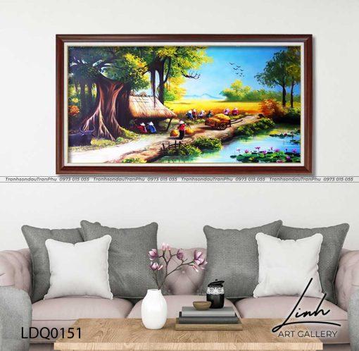 tranh lang que 151 510x498 - Tranh Làng Quê - LDQ0151