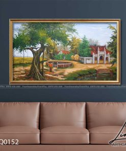 tranh lang que 152 247x296 - Tranh Làng Quê - LDQ0152