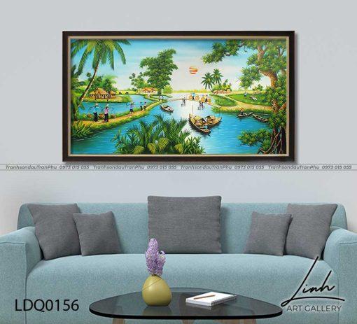 tranh lang que 156 510x463 - Tranh Làng Quê - LDQ0156