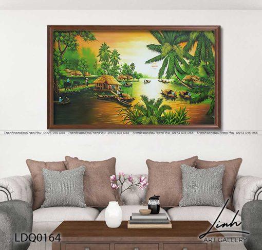tranh lang que 164 510x486 - Tranh Làng Quê - LDQ0164
