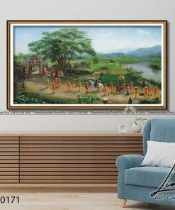 tranh lang que 171 247x296 - Tranh Làng Quê - LDQ0171